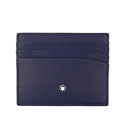 Case Cowhide Full Navy Blue Flower from Europe, Shine Exclusive Mont Blanc, 6 pockets for Credit cards, additional Pocket Ident: 114557 Color: navy interior Organization: 6 pockets for Credit cards, additional Pocket Dimensions: 10 x 8 cm
