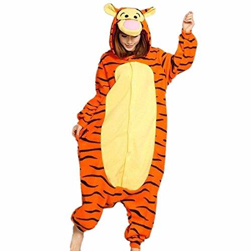 QIYUN.Z Unisexe Animal De Bande Dessinee Adulte Kigurumi Pyjama Doux Costume Cosplay De Vetements De Nuit Chaude Tigre