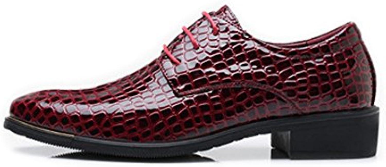 Yaojiaju Business Schuhe für Männer  PU Leder Schuhe Snake Skin Textur Oberen Lace up Breathable Business Low