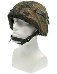 Mil-Tec - Casco de airsoft (con bolsillos para equipo y cierres de velcro), diseño de camuflaje