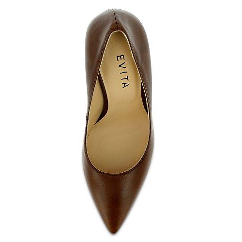 Evita Shoes - Alina, Scarpe col tacco Donna Marrone (Cognac)