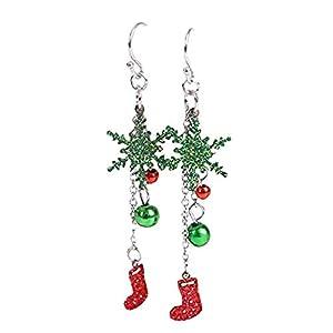 1 Paar Weihnachten Ohrringe Stud Festliche baumeln Ohrringe Schneeflocken Ball Socken Ohr Design