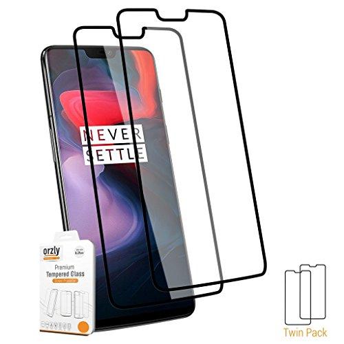 ORZLY® Pellicola Protettiva OnePlus 6, Pellicola Pro-Fit in Vetro Temperato (Copertura Integrale) per il Oneplus 6 [Compatibile con cover e custodie] – CONFEZIONE DOPPIA