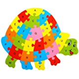 26Pcs Children Wooden Cute Animal Puzzle Jigsaw Alphabet KIds 3D Early DIY Letter Educational Learing Toys