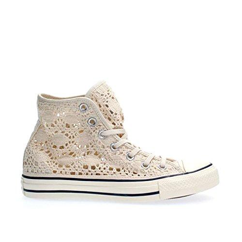 Converse 552998c, Chuck Taylor Hi Crochet femme Parchment/Navy/Egret