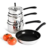 Best Induction Cookware Sets - ProCook Gourmet Steel Induction Cookware Set | 4 Review