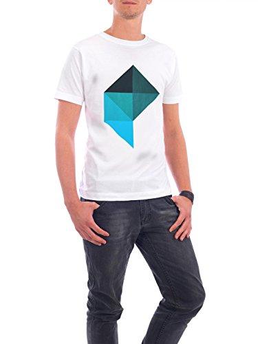 """Design T-Shirt Männer Continental Cotton """"Trapez No 4"""" - stylisches Shirt Geometrie von Boris Draschoff Weiß"""