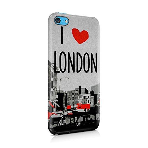 London Great Britain England Flag Custodia Posteriore Sottile In Plastica Rigida Cover Per iPhone 7 Plus & iPhone 8 Plus Slim Fit Hard Case Cover Love London