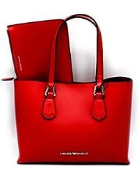 Emporio Armani , Sac pour femme à porter à l épaule Rouge rouge Altezza   c1305821bc52
