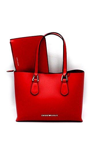 Emporio Armani , Damen Schultertasche Rot rot Altezza : 20 cm Lunghezza : 26 cm Larghezza : 12 c