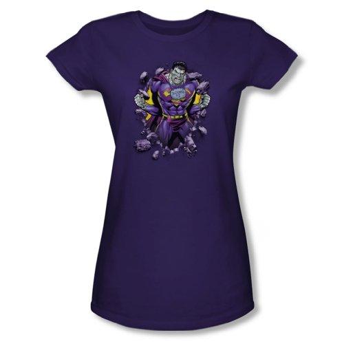 Superman - Frauen Bizzaro Breakthrough T-Shirt in Lila, XX-Large, Purple