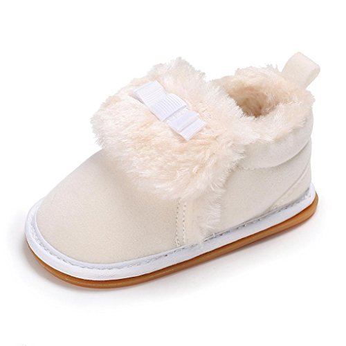 Ec Baby Warm Shoes Boy Girl Plush Moccasins Soft Sole Non-slip Velvet Snow Shoes (0~6 Months  available at amazon for Rs.1859