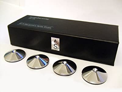 Set of 4 AudioSerenity Polished Chrome Hi-Fi Spike Shoes from AudioSerenity