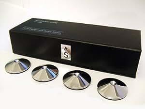 AudioSerenity Lot de 4 en Chrome poli Pointe Hi-Fi et range chaussures