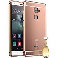 Funda Espejo Aluminio Metal Carcasa para Huawei Mate S Color Rosado
