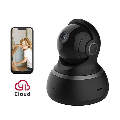 YI Dome Kamera 1080p Überwachungskamera Wireless IP Kamera, Smart Home mit Nachtsicht, Bewegungsalarm, Auto-Kreuzfahrt, 2 Wege Audio, Wifi Haus Monitor Baby Monitor mit App für Smartphone/PC-schwarz