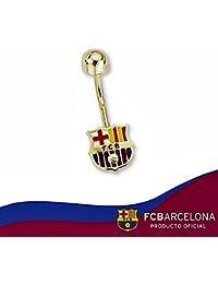 Piercing escudo F.C. Barcelona oro de ley 18k 8mm. ombligo [6525] - Modelo: 10-096