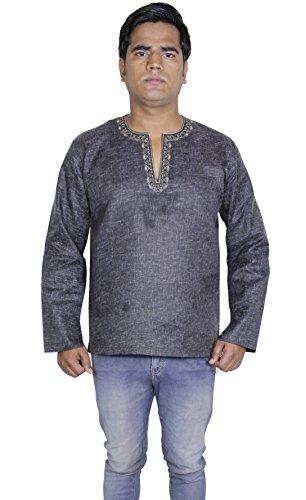 Camicia di moda abbigliamento - uomo manica lunga in cotone kurta - Abiti india -m