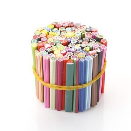 Autek 100 PC 3D Designs Nail Art Nailart Manicure Fimo Canes Sticks Rods Stickers Gel Tips Bs-09 by VIPMALL