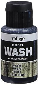 Vallejo Model Color - Pinturas de Lavado (35 ml), Color Negro