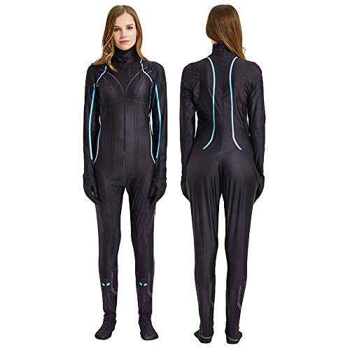 Hope Schwarze Witwe Cosplay Kostüm Erwachsene Frauen Halloween Kleidung Onesie Siamese Strumpfhosen Party Kostüm Engen Body,Black-M(160~170 cm)