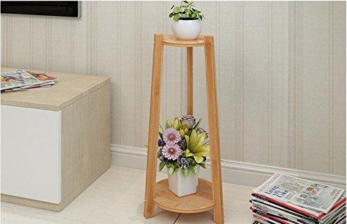 JH Mehrschichtiger trapezoider hölzerner Blumenstandbalkonfußboden-Blumenrahmen saftiger grüner Betriebsblumenstandplatz (größe : M)