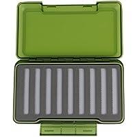 V-BLUE Caja 196*116*42 mm Cajas y almacenamiento Accesorios de pesca con mosca Fishing Box container Gris/Verde