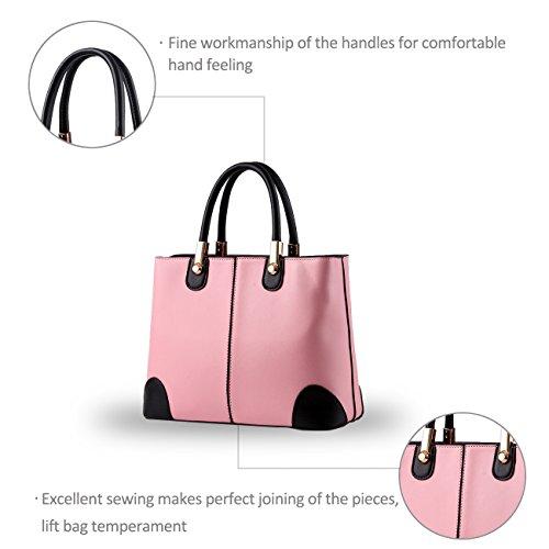NICOLE&DORIS donne nuove donne borsa borse moda borsa messenger -Schulterbreite della borsa(Pink) Pink