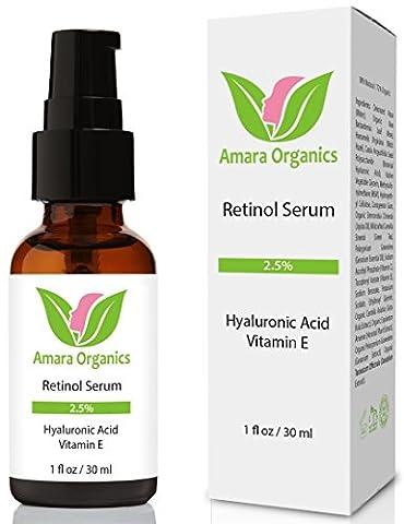 Retinol Serum 2.5% with Hyaluronic Acid & Vitamin E - 30 ml