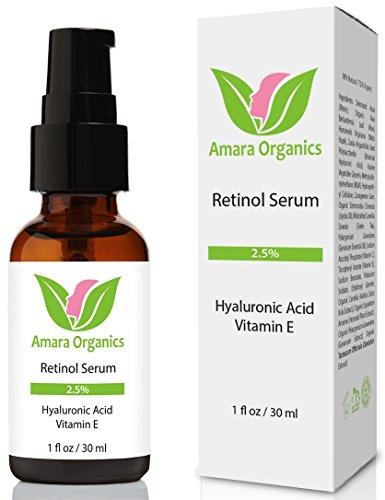 Amara Organics Retinol Serum für das Gesicht 2.5% mit Hyaluronsäure & Vitamin E - 30 ml