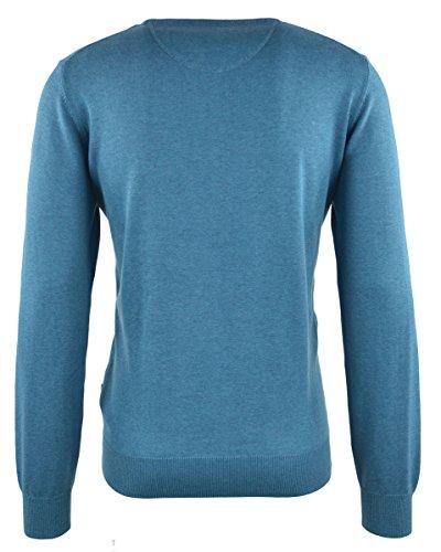 FYNCH-HATTON Rundhals Pullover 1217-210 crystal blue 639