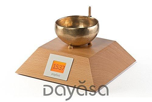 Bols chantants Horloge anand de dayasa en hêtre nature-Réveil avec bol chantant-Zen Réveil