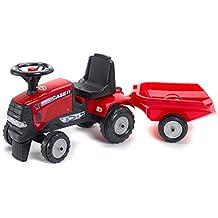 Falk 938B Case IH - Tractor con remolque, color rojo