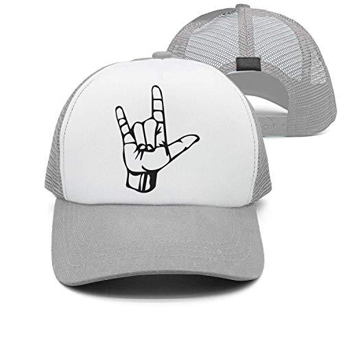 dfegyfr Männer & Frauen Baumwolle einstellbare Cowboyhut Freizeit Hüte - ASL ich Liebe Dich Gebärdensprache Multicolor38