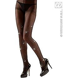 Pantys con telarañas mujer Halloween - XL