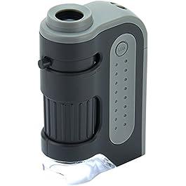 Carson MM-300 MicroBrite Plus – Microscopio tascabile con illuminazione LED, 60x-120x