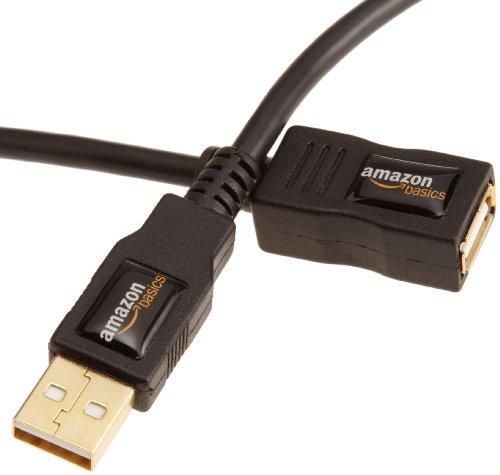 AmazonBasics - Cable alargador USB 2.0 tipo A (3 m)