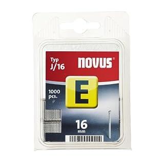 Novus Nägel 16 mm, Klarsichtverpackung mit 1000 Nägeln vom Typ J/16, zur Befestigung von Zierleisten und Eckleisten