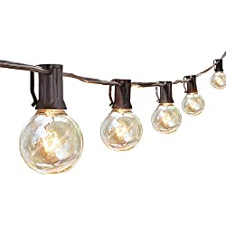 AnkerMax 7,62 m Outdoor / Indoor Garten Lichterkette, 5-fach kaskadierbar, auf 38m erweiterbar mit echten Glühlampen für Party Beleuchtung, Halloween Deko, Hochzeit, Garten, Zelt, Schirm, Terrasse,