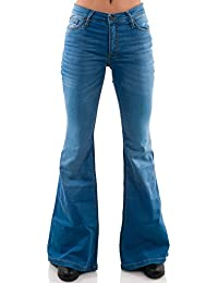 Blaue Stretch Jeans Schlaghose Star SkyBlue Slimfit