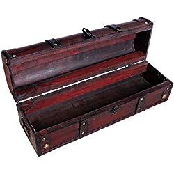 Cofre del Tesoro Cofre baúl Cofre del Tesoro Pirata Caja de madera con metal herrajes acabado antiguo Caja de madera baúl bar joyas Vino baúl Caja aspecto de madera caja joyas caja tamaño s SK004