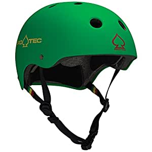 ProTec Classic Cycling Helmet, Unisex, Helm The Classic, Matte Rasta Grün, XS (52-54 cm)