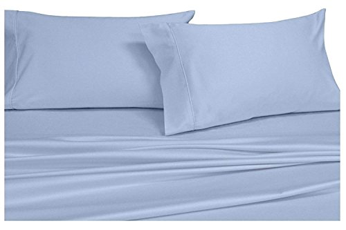 Xl Satin Streifen (abripedic Satin massiv Blatt, 600-thread-count Bed Sheet Set, 100 Prozent Baumwolle, Deep Pocket, baumwolle, blau, Twin XL)