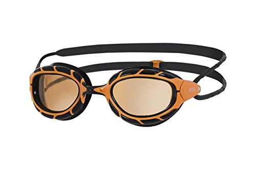 Zoggs Predator Polarized Ultra Schwimmbrille, Orange/Black/Copper, onesize