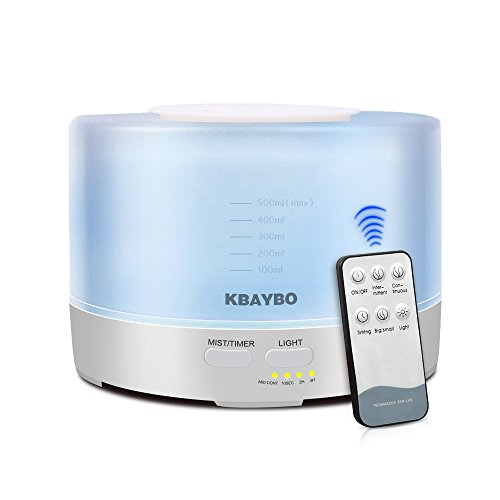 KBAYBO 500ml Control Remoto Aroma Difusor Aceite Esencial