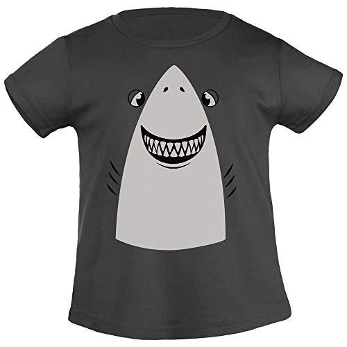 Weißer Hai Halloween Kostüm Mädchen T-Shirt 130/140 (8-10J) Schwarz