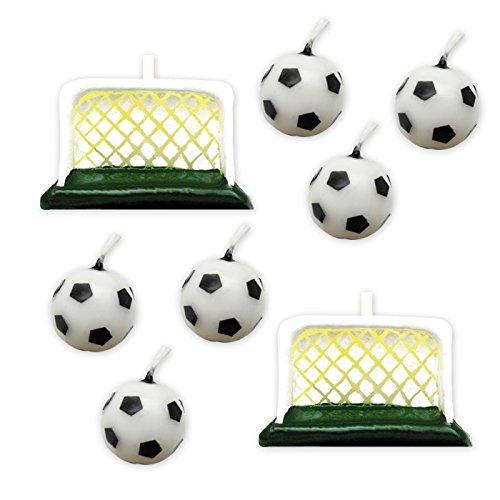 (Big Party Dimav s.r.l. Satz von 6 Kerzen Fußball mit Türen, für Parteien und Geburtstage Fußball Thema Kinder und Erwachsene)