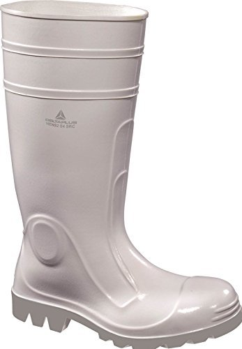 Delta Plus Panoply Viens White PVC Safety Wellington Boots Wellies Steel Toe Cap