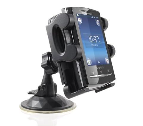 Incutex Halterung für alle Handys / Halter / Stütze mit Saugnapf-Standfuß (rutschfest) für alle Handy Modelle, perfekt für iPhone 3G & 3GS oder iPhone 4, Samsung Galaxy S4/S3/S2, Nokia N8-00, HTC Desire HD, Sony Ericsson Xperia X10, RIM Blackberry Torch