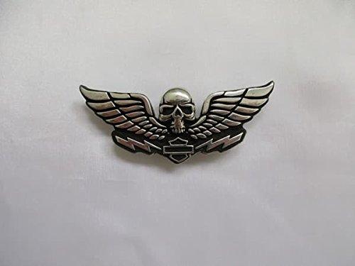 Artikel wird am nächsten Tag versand! Original Harley Davidson pin 8,5x3,5 cm Rückseite mit 2 Schrauben und Stempel Shipping to france and england 4-6 days (Flügel Pin)